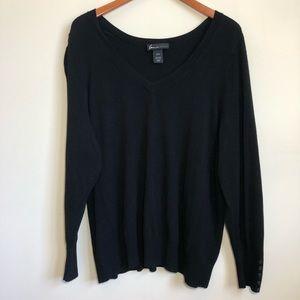 Lane Bryant | Black V-Neck Sweater Sz 22/24